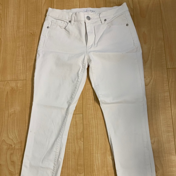 LOFT Denim - Loft white skinny jeans